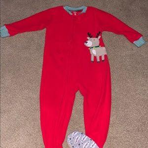 Carters fleece Christmas sleeper
